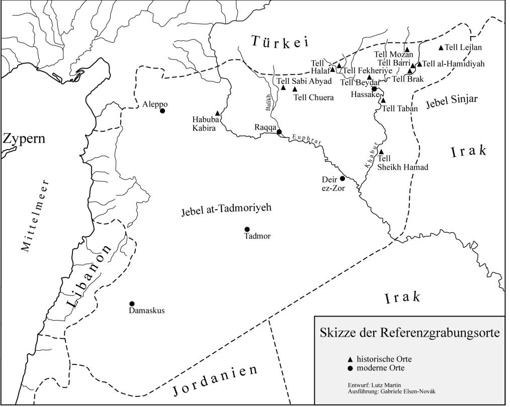 خارطة توضح موقع تل موزان