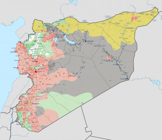 خريطة سوريا - ويكيبيديا