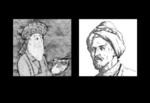صور تخيلية للجزيري على اليمين و الشيرازي على اليسار.