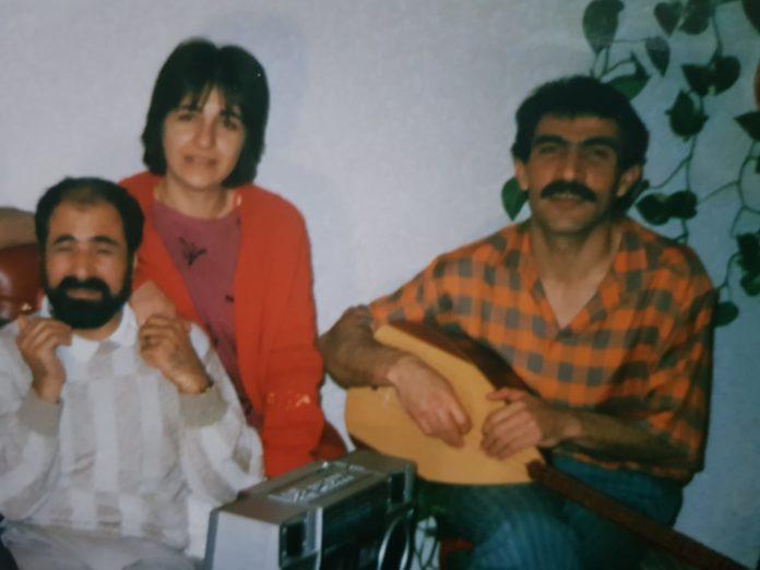 صورة آلان بوتان مع شفان پرور و گلستان - مصدر الصورة شيركو كنعان عكيد صديق الفنان الراحل آلان بوتان