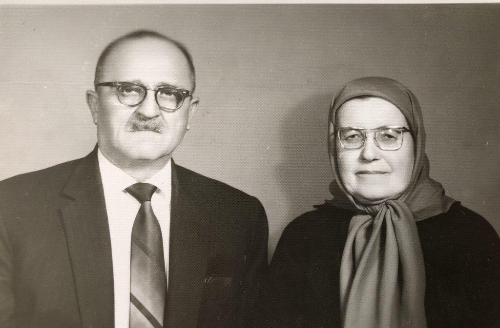 أوسمان صبري وزوجته شادية رجب دوغوط في الستينات