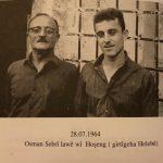 أوسمان صبري مع ابنه هوشنك في سجن حلب 1964/7/28