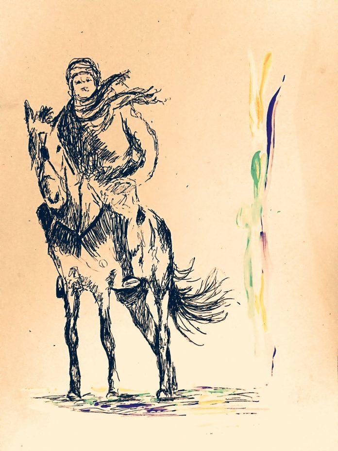 لوحة تخيلية بريشة الفنان محمد شاهين